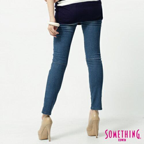【1290元優惠↘】SOMETHING STORY 3 塑腿超窄直筒褲-女款  拔淺藍 1