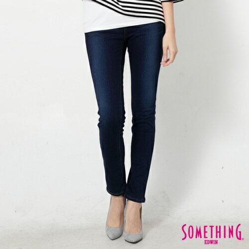 【990元優惠↘】SOMETHING MEIDUSA前袋剪接 高腰牛仔褲 -女款 原磨藍 0