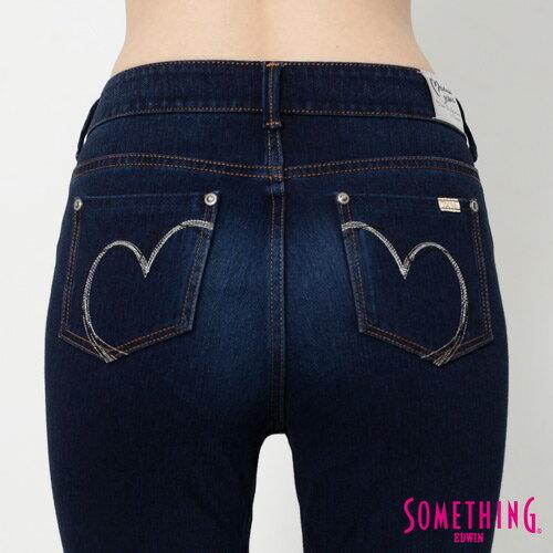 【990元優惠↘】SOMETHING MEIDUSA前袋剪接 高腰牛仔褲 -女款 原磨藍 4
