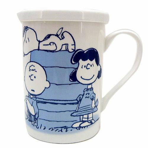 【真愛日本】13052200020 附蓋馬克杯-SN朋友紅屋E 史努比 SNOOPY 咖啡杯 下午茶杯 陶瓷杯