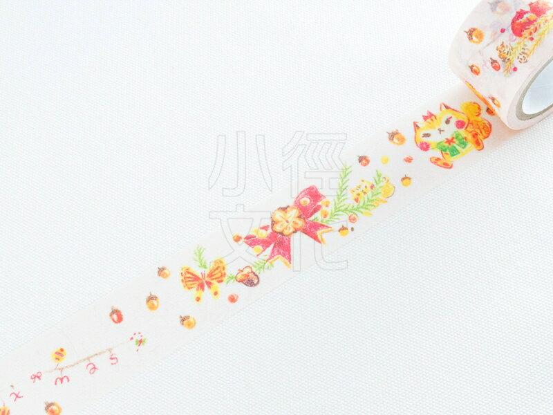 *小徑文化*| 台灣原創紙膠帶 | 魟魚 和紙膠帶 - 松鼠聖誕 Stingray