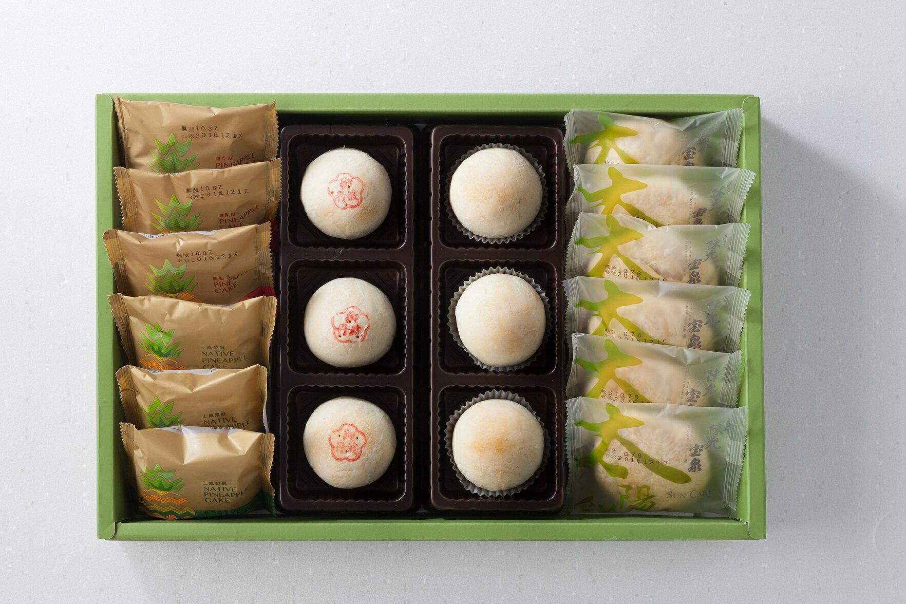 【台中伴手禮】經典禮盒18入 / 內有土鳳梨酥X3、原味鳳梨酥X3、御丹波X3、小月餅X3、小太陽餅X6,所有經典口味,一次擁有~ 5