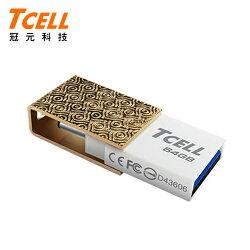 TCELL 冠元 Type-C 64GB 雙介面OTG 隨身碟 香檳金【三井3C】