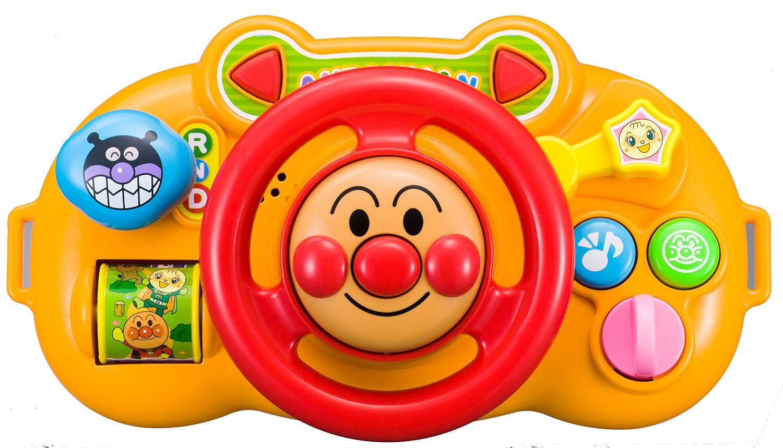**雙子俏媽咪親子館** [日本] 麵包超人 Anpanman 手推車 汽車安全座椅 三用 方向盤 玩具 現貨