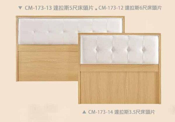 【尚品傢俱】CM-173-13達拉斯5尺床頭片(另有3.5尺)