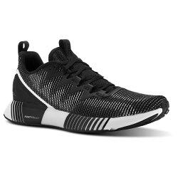 【REEBOK】訓練鞋 Fusion Flexweave 男鞋 健身房 重訓 有氧 多功能 跑鞋 男 黑 灰(CN2424)