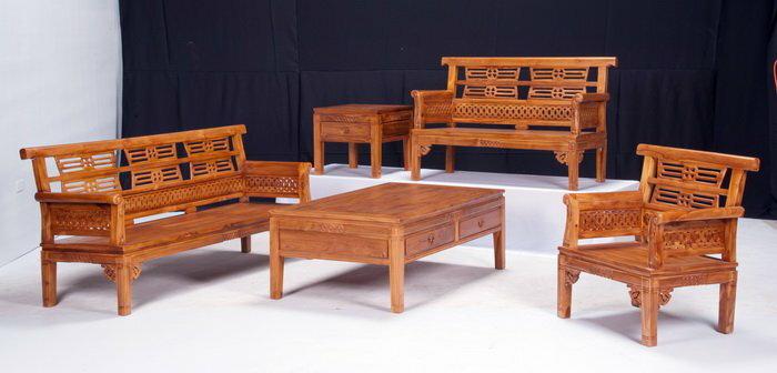 【石川家居】KL-10 柚木環狀組椅 台中以北搭配車趟免運費
