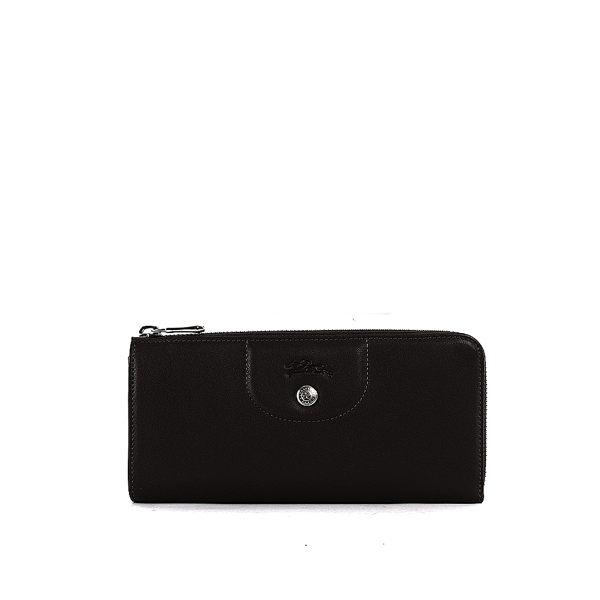 【LONGCHAMP】小羊皮L型長夾(黑色) 3418737001