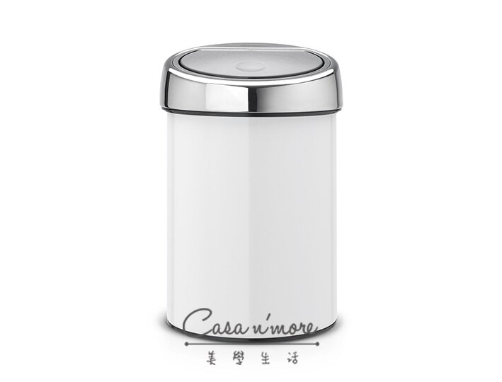 Brabantia 觸摸式垃圾桶 時尚垃圾桶 按壓式 3L-白色 比利時製造