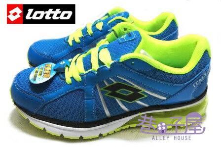 【巷子屋】義大利第一品牌-LOTTO樂得 大童大氣墊亮彩跑鞋 [1086] 藍 超值價$590【SS感恩加碼 | 單筆滿1000元結帳輸入序號『SSthanks100』現折100元】