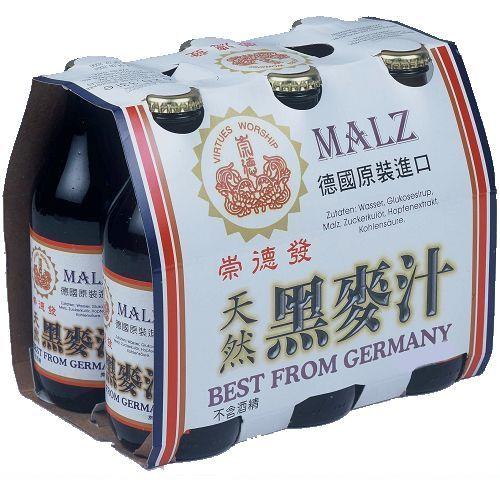 崇德發德國天然黑麥汁330ML*6【愛買】