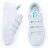 Shoestw【5C310T113】FILA COURT DELUXE 休閒鞋 厚底 增高 魔鬼氈 皮革 雷射 白色 仙杜瑞拉 女生 2