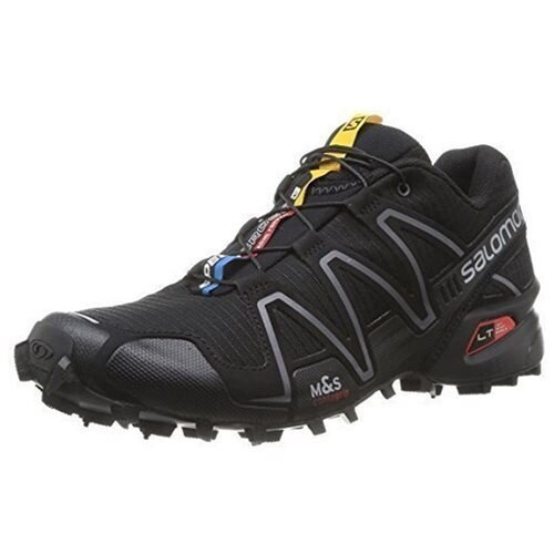 Salomon L32784500 Women's Speedcross 3 Trail Running Shoes, Black / Black / Silver Metallic - X, 8.5 B(M)