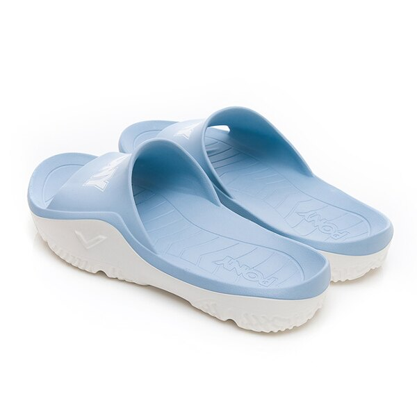 《超軟Q防水拖》Shoestw【92U1FL07PB】PONY PARK-X 防水拖鞋 海灘拖鞋 軟Q 拖鞋 水藍白 女生尺寸 1