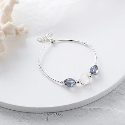 PS Mall 日韓甜美個性水晶珠子魚尾手鏈女士簡約情侶女生串珠手飾 【G2523】 6