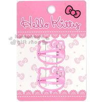 凱蒂貓週邊商品推薦到〔小禮堂〕Hello Kitty 兒童造型髮夾《2入.粉.大臉型》甜美可愛