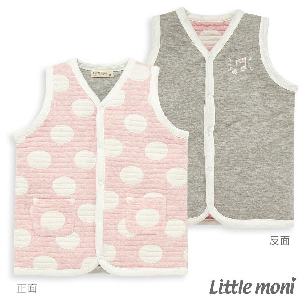 Little moni 雙面穿點點鋪棉背心-粉紅(好窩生活節) 0