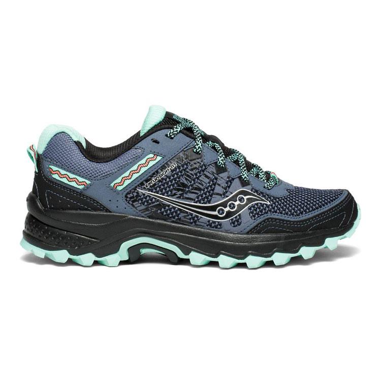 saucony 女EXCURSION TR12 越野鞋SY10451-3【湖水綠-灰黑】 /  城市綠洲 (跑鞋、運動休閒鞋、EVERUN) 1