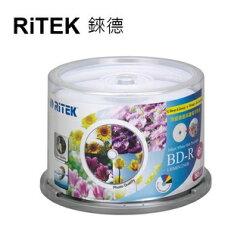 【RiTEK錸德】 6X BD-R 桶裝 25GB 高寫真滿版可列印式 50片/組