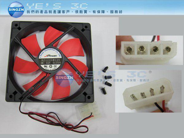 「YEs 3C」杰強 12CM風扇 電腦機殼散熱風扇 FAN 靜音 12公分大4PIN 可串接多個風扇[b18085]