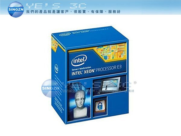 「YEs 3C」全新 INTEL 英特爾 Haswell Xeon E3-1230V3 4C8T 3.3GHz Turbo 3.7G 22nm 免運 客訂 yes3c