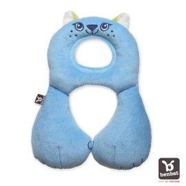 【淘氣寶寶】【以色列Benbat】寶寶旅行頸枕頭枕適用1-4歲藍貓咪【保證公司貨●品質有保證●非水貨】