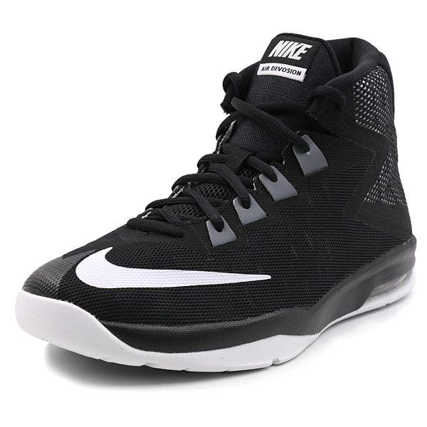 NIKE Air Devosion GS 女鞋 童鞋 籃球鞋 高筒 黑 白 【運動世界】 845081-001