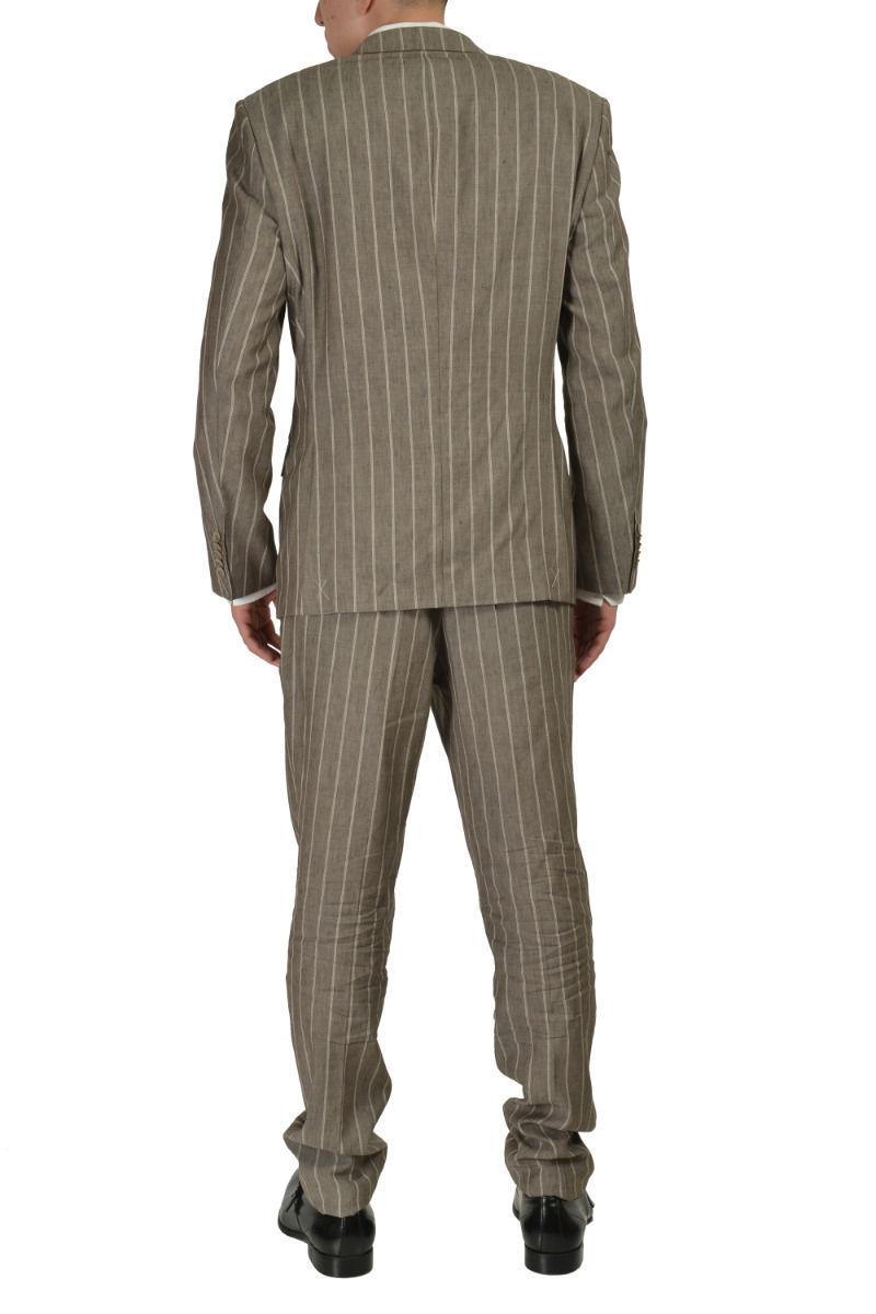 0946a2f7b Hugo Boss T-Hovers/Glovers Men's Gray Wool Silk Striped Suit Size US 40
