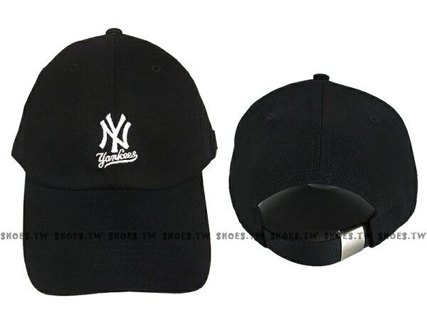 Shoestw【5762004-900】MLB美國大聯盟調整帽老帽洋基隊小LOGO黑色男女都可戴