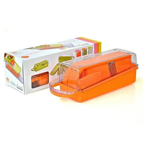 【包裝破損】日本製造Shimomura三合一漾彩蔬果刨切器(鮮紅橘)