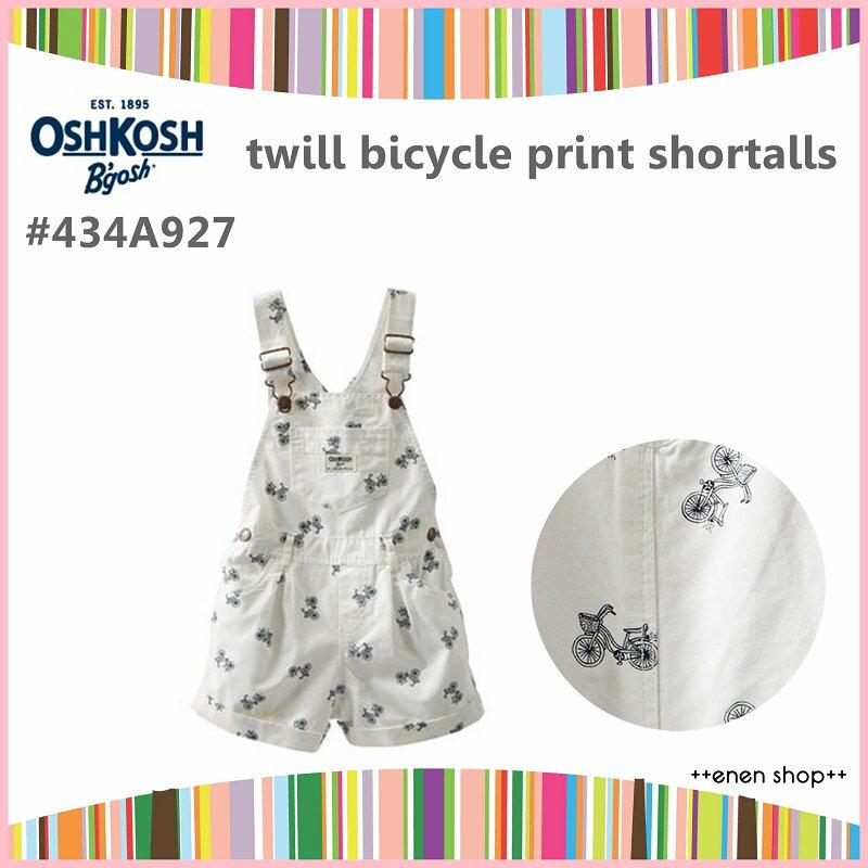 ++enen shop++ OshKosh B'gosh 春夏新款復古腳踏車吊帶短褲 ∥12M/18M/24M/2T