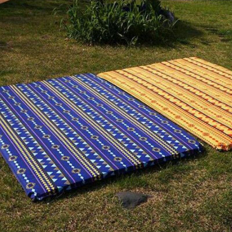 美麗大街【CF11118】雙人民族風自動充氣墊雙氣孔戶外野營帳篷墊爬行防潮墊