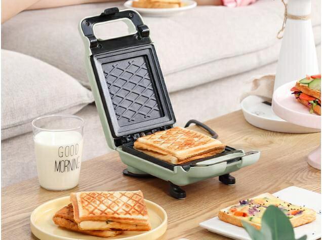 麵包機金正三明治機家用網紅輕食早餐機三文治機加熱烤面包機神器電餅鐺220V-韓尚華蓮
