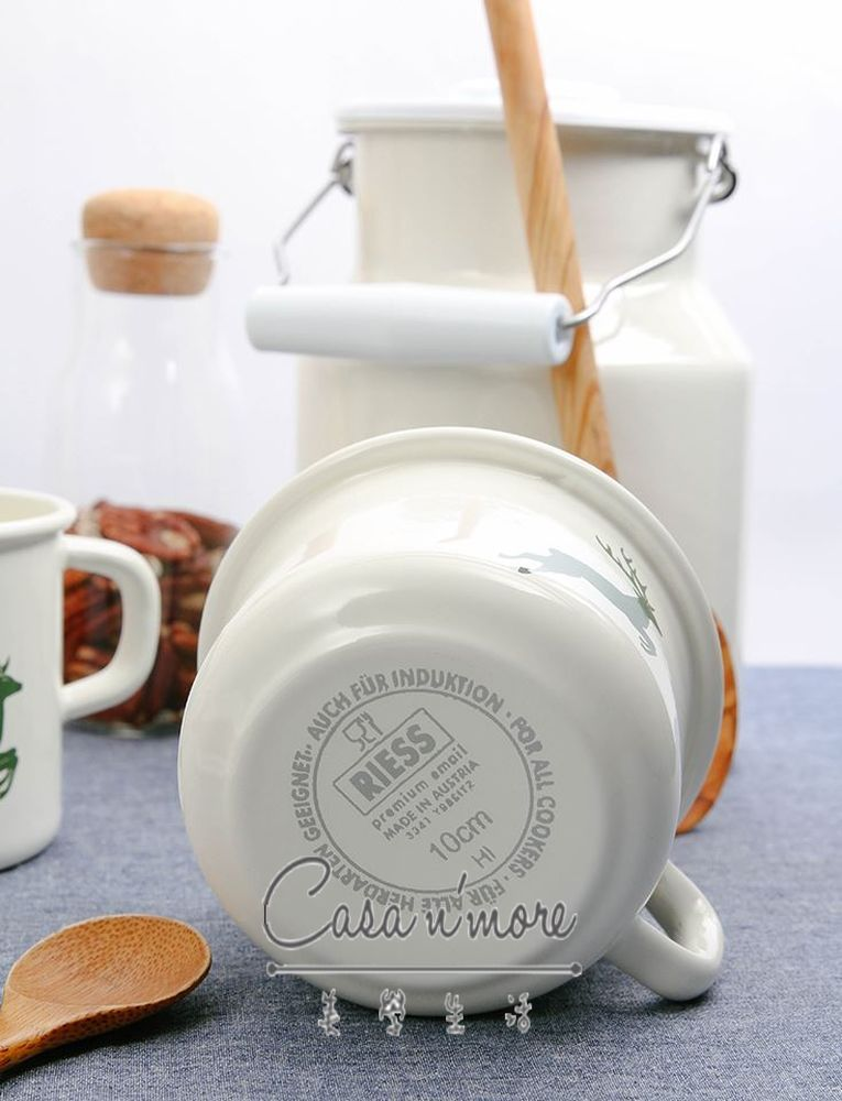 Riess 琺瑯鍋 咖啡杯 馬克杯大口徑 /400ML 3