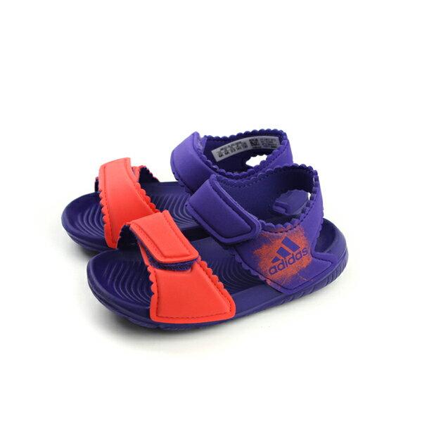 adidas AltaSwim g I 涼鞋 防水 雨天 好穿 舒適 童鞋 紫色 橘紅 小