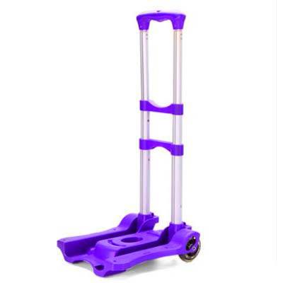 【鋁合金拉杆車-30*27*95cm-1套/組】伸縮可折疊便攜拖車行李車購物車可配背包-7201014