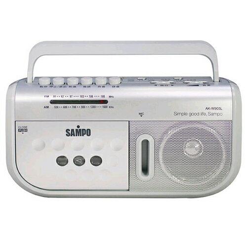 聲寶手提式收錄音機AK-W905L【愛買】