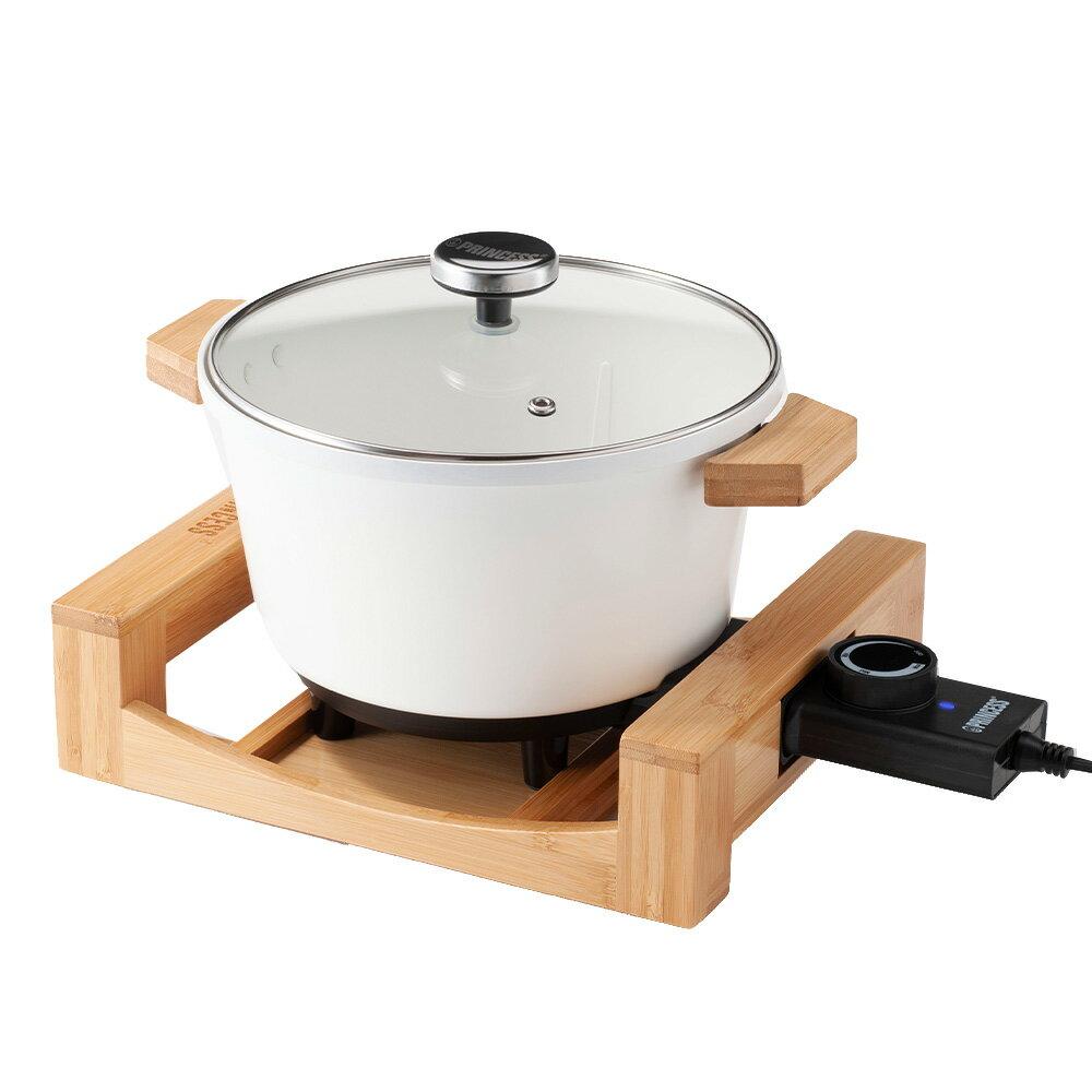 【贈原廠炸油網】Princess 173026  /  173030 多功能陶瓷料理鍋 (黑 / 白) 0