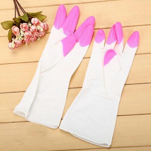 PS Mall 舒婷 家務清潔橡膠手套 加厚家用乳膠防水洗碗手套【J1965】 1