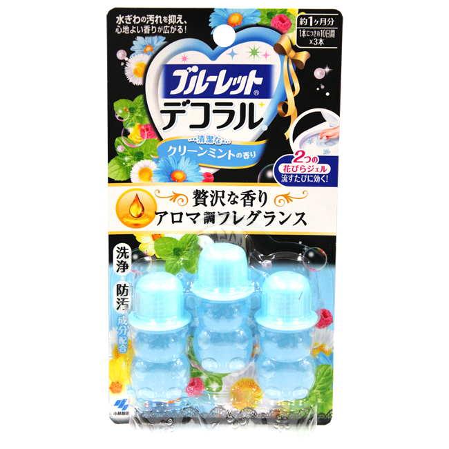 小林製藥花型馬桶凝膠除臭劑-藍色薄荷23g盒
