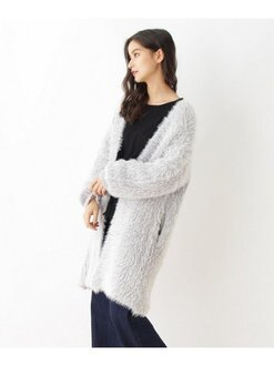 OZOC 毛茸茸 開衫長版長袖 針織衫 大衣外套 日本必買 日本直送 代購/日貨/雜誌
