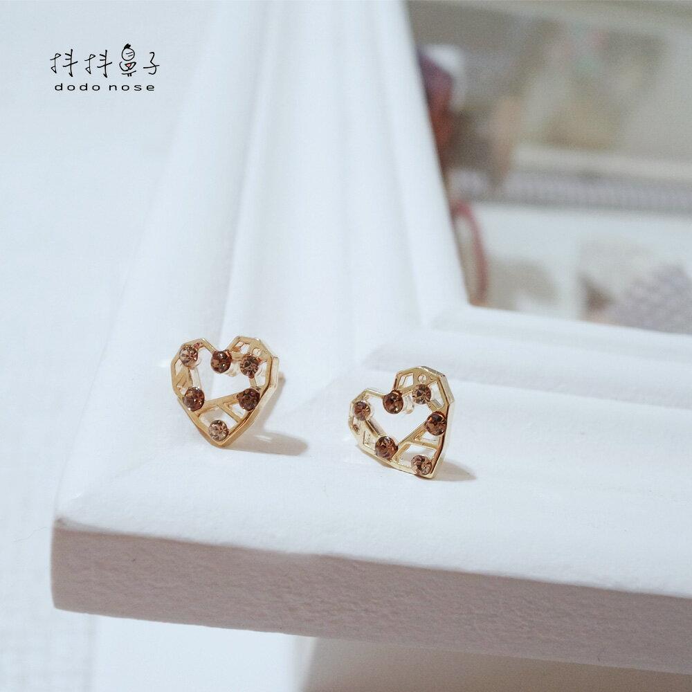 幾何愛心彩鑽耳環 2