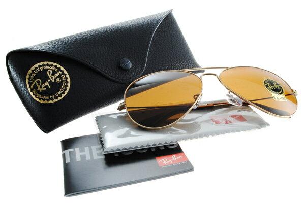 Ray Ban 雷朋 金邊茶色鏡片 RB3025 太陽眼鏡 0