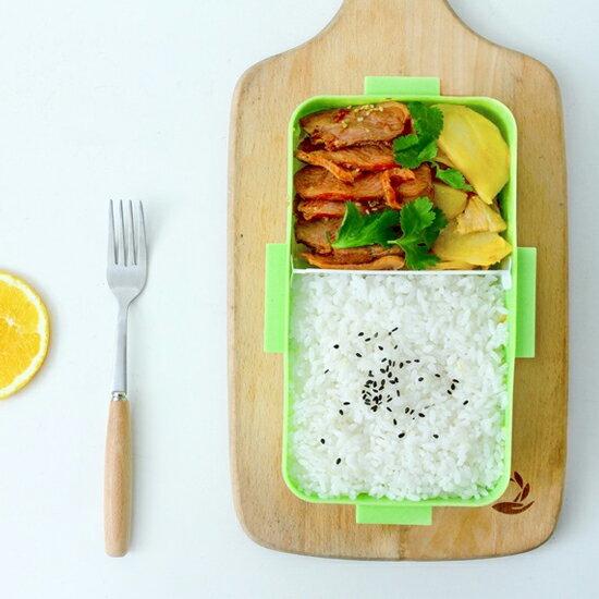 ♚MY COLOR♚帶蓋密封保鮮飯盒^(大^) 便當 卡扣 菜盒 野餐 三明治 露營 食物