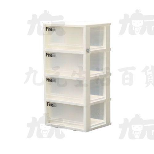 【九元生活百貨】聯府LR-40集寶四層櫃(附輪)(二小抽)置物櫃收納櫃LR40