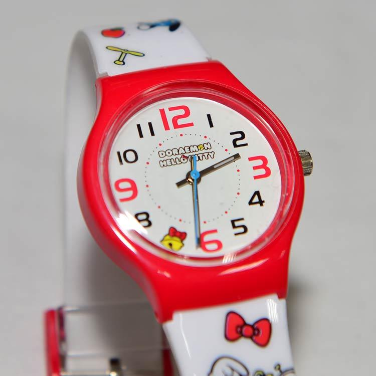 Hello Kitty Doraemon 哆啦A夢 聯名紀念手錶 日本正版商品