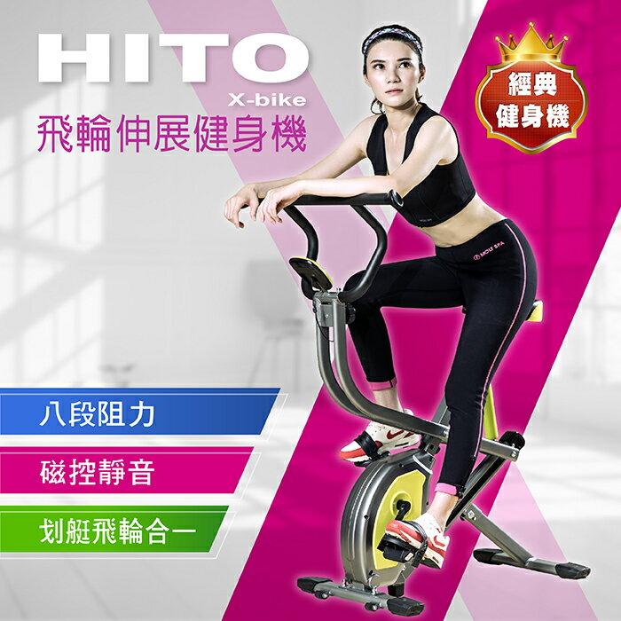 Hito飛輪伸展健身機/健腹機/ 美背機/輕巧又實用/舒適大坐墊/多功能顯示表