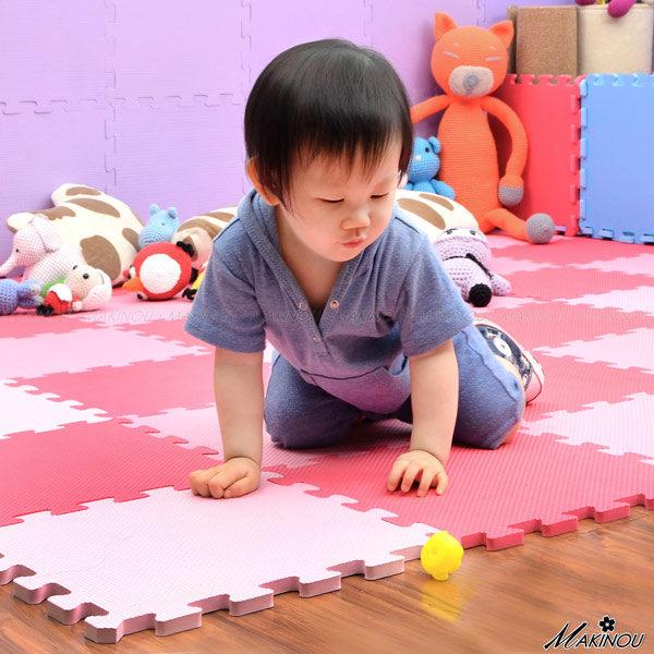 地墊|6入~無甲醯胺素面巧拼地墊^(32^~32^)│ MAKINOU 製 爬行軟墊地磚