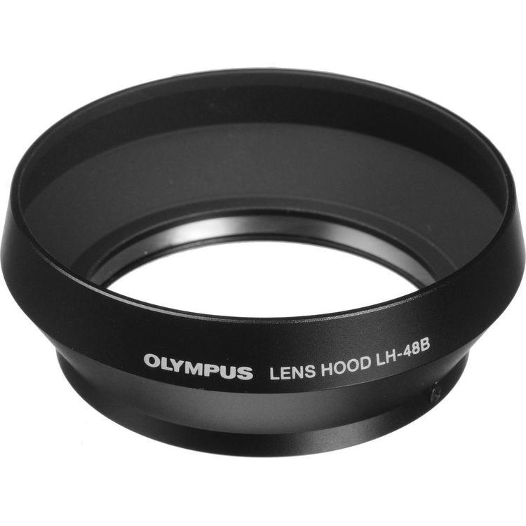 【普羅相機】OLYMPUS LH-48B 金屬鏡頭遮光罩 (黑色)(需預訂)