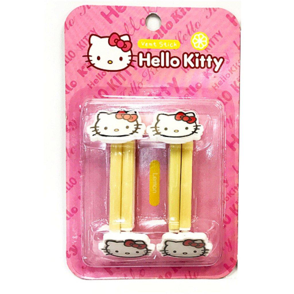 【真愛日本】17090800001 車用芳香劑-KT黃(檸檬) 三麗鷗 kitty 凱蒂貓 汽車用品